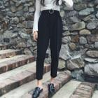 Round Buckle Dress Pants