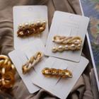 Faux Pearl & Acrylic Chain Hair Clip