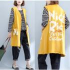 Letter Long Vest Yellow - One Size