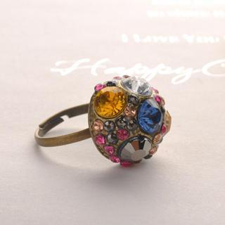 Colorful Diamond Ring One Size