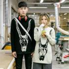 Couple Matching Long-sleeve Printed Knit Top