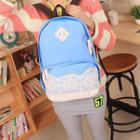 Lace Panel Canvas Backpack