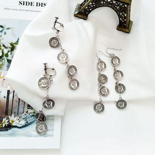 Coin Earring / Clip-on Earring