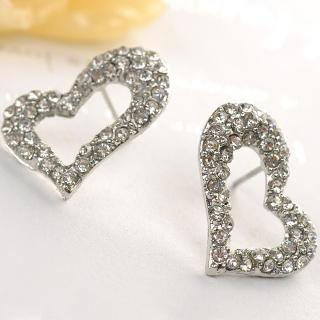 Heart-shaped Earrings  Silver - One Size