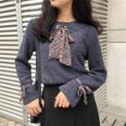 Inset Tie Knit Top