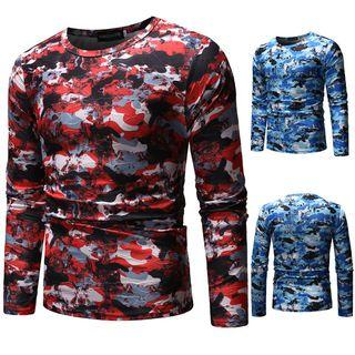 Long-sleeve Camo Top