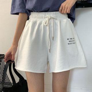 Lettering Short-sleeve Shorts