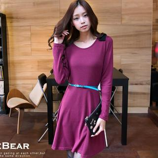 Bow-accent A-line Dress