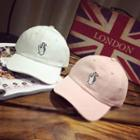 Embroidered Snapping Hand Baseball Cap
