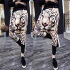 Tiger Print Harem Pants