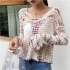 Melange Summer Knit Top