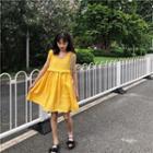 Sleeveless Frill-trim Babyboll Dress