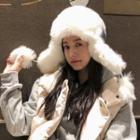 Furry-trim Earflap Hat