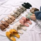 Cross-strap Slippers In 10 Colors