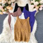 Crocheted Knit Tank Top