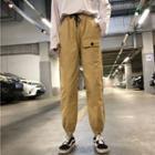 Cropped Pocket-detail Sweatpants