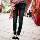 Elastic-waist Skinny Jeans
