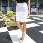 Drawstring-waist Pencil Skirt