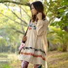 Long-sleeve Patchwork Dress