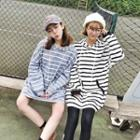Striped Long Hoodie