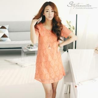 Short-sleeve Crochet Dress