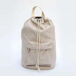 Pocket-front Drawcord Sling Bag