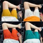 Chiffon Plain Shorts / Set