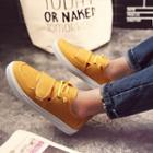 Lace-up Velcro Canvas Sneakers