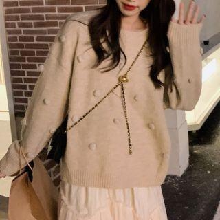 Bobble Sweater Monochrome - One Size