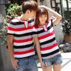 Couple Matching Striped T-shirt