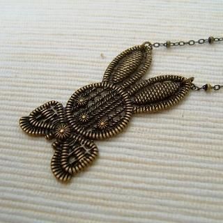 Mr. Rabbit Necklace Copper - One Size