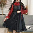 3/4-sleeve Shirt / Sleeveless Frill-trim Lolita Dress