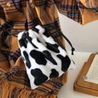 Cow Print Drawstring Pouch
