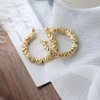 Layered Hoop Earring 1 Pair - Gold - One Size