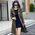 Tie-waist Long Zip Jacket