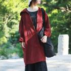 Corduroy Hooded Long Cardigan Coat