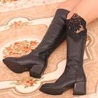 Lace Panel Tall Boots