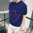 Short-sleeve Henley T-shirt