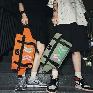 Reflexive Pattern Messenger Bag