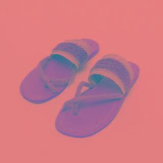 Woven Rattan Flip-flops