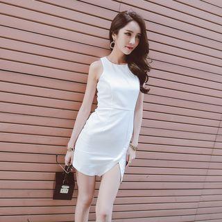 Sleeveless Slit Sheath Dress