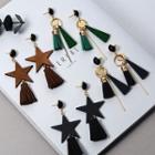 Tasseled Geometric Earrings