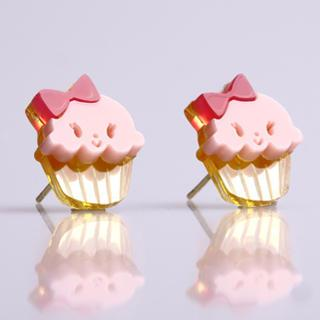 Miss Cupcake Strawberry Stud Gold Earrings