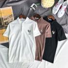 Animal Embroidered Short-sleeve Polo Shirt