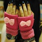 Bow Fingerless Gloves