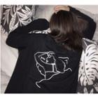 Print Back Long-sleeve T-shirt