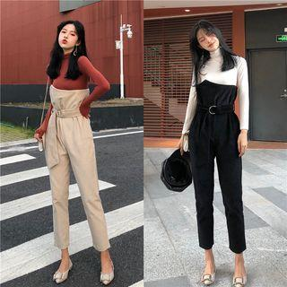Corduroy High-waist Jumpsuit