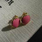 Metallic Earrings Pink - One Size