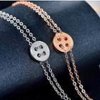 Sterling Silver Button Bracelet