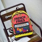 Color Block Printed Backpack